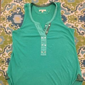 Green Anthropologie Brand Pure and Good tank top